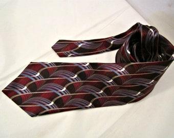 Silk Necktie, Italian Silk, Men's necktie, Silk necktie, Vintage silk necktie