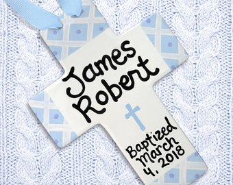 Personalized Baptism Cross - Christening - Baptism - Baptism Gift - Dedication Gift - Personalized Cross - Goddson - Gift from Godmother