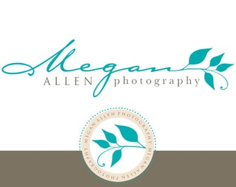 Custom Premade Logo With Watermark and EXTRA Accent Element