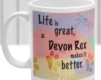 Devon Rex cat mug, Devon Rex cat gift, ideal present for cat lover