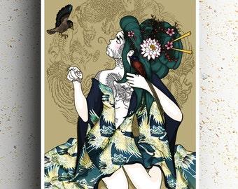 A3 - Himitsu o Oshieru (Tell me a secret) - (29.7 cm x 42 cm) Japanese Manga/Anime Print