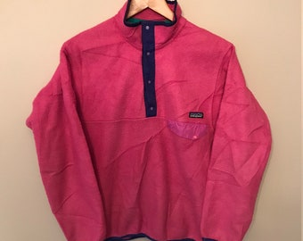 Vintage PATAGONIA - PINK Synchilla Style Fleece Sweater - XS