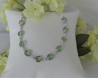 Mother's Birthstone Bracelet-August Birthstone Bracelet-Birthstone Bracelet-Custom Birthstone Bracelet-Personalized Birthstone Bracelet