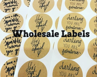 Wholesale Labels (10 Sheets of 12 Kraft Adhesive Labels)