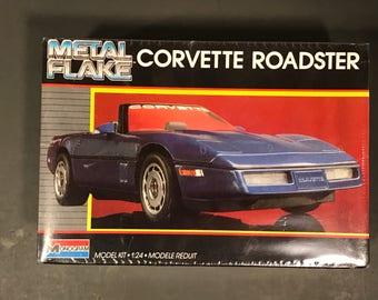 Vintage Corvette Rodster Modle, Metal Flake Corvette Roadster, 1:24 Modele Reduit Corvette