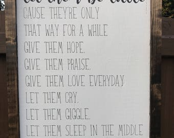 Let them be little sign, Farmhouse Nursery Sign, Rustic Kids Room Decor, Farmhouse Sign, Rustic Nursery Decor, Farmhouse Nursery Decor, Sign
