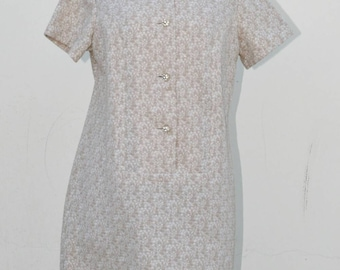 Vintage and Voluptouous 1960s Rhinestone Button Dress