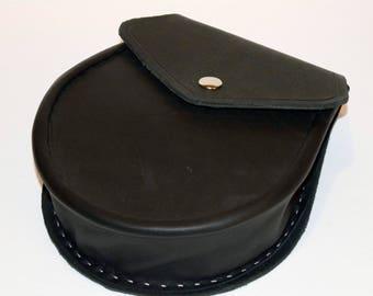 Sporran Leather Black Irish Scottish pouch bag purse satchel larp cosplay rpg costume