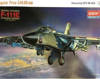MAYniaSALE Vintage 1990 unopened plastic model kit 1/48th scale Academy F-111E Aardvark Bomber