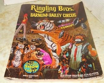 RINGLING BROS. and BARNUM Bailey Circus Souvenir Program & Magazine 1972 102nd Edition