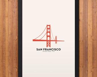 San Francisco Minimalist City Poster