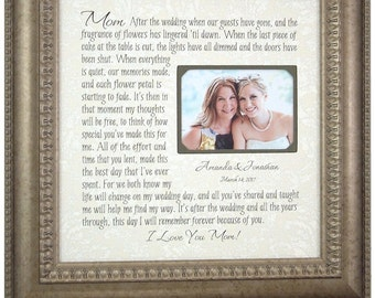 Wedding Thank You Parents Poetry Picture Frame From Groom Son or ...