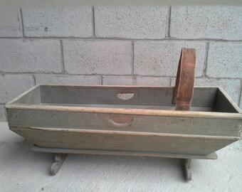 Antique Primitve Wooden Baby Cradle