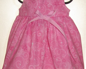 READY to SHIP Sparkly Pink Princess Doll Dress will fit Bitty Baby or any 15 inch doll