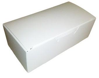 6 PLAIN WHITE 1 Piece Treat Box W/Pads