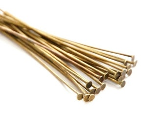 40 riveting pins with flat head 50 mm/Bronze