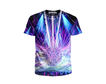 EDM Festival Tee - Concert Lights Clothing - Psychedelic Apparel