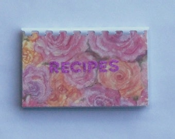 Handmade Pink 'Recipes'  Blank Recipe book for Personal Recipes
