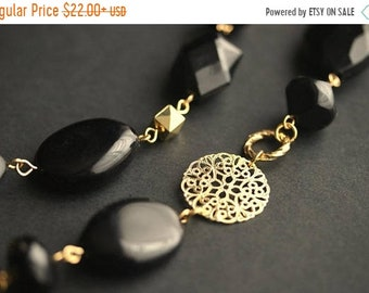 MOTHERS DAY SALE Eyeglass Chain or Badge Lanyard. Black Lanyard. Gold Eyeglass Holder Gold Lanyard. Black Eyeglass Necklace. Badge Holder. B