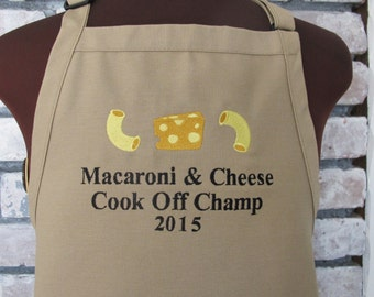 Personalized Macaroni and Cheese Apron - Custom Macaroni and Cheese Cookoff Apron