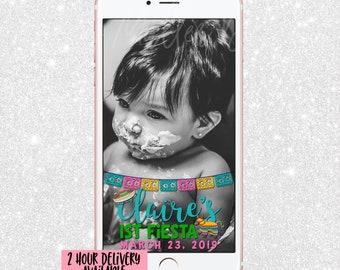 Fiesta Snapchat Geofilter - Snap Chat Filter Fiesta Party Taco Pinata - first birthday Snapchat - Snapchat Geofilter - First Birthday
