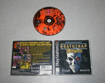 Death Trap Dungeon Sony PlayStation 1 PS1 Video Game Complete Tested