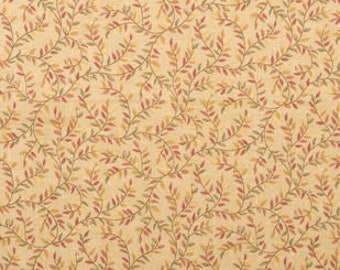 Gold Vines Cotton Fabric Sold by the Yard