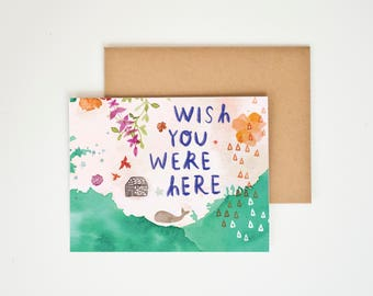 Wish You Were Here Card, You Are My Person, I Miss You, Map Wall Art, World Map, I Miss Your Face, Love Gift, Meera Lee Patel