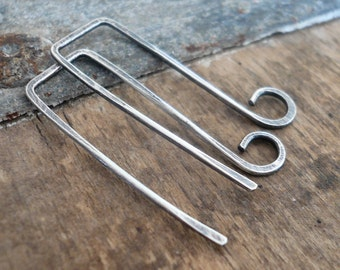 Millstone Sterling Silver Earwires - Handmade. Handforged. Oxidized and polished