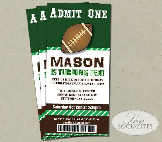 Football ticket printable invitations admit one football filmwisefo