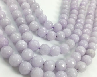 1Full Strand Jade Faceted Round Beads, 8mm 10mm Jade Gemstone For Jewelry Making