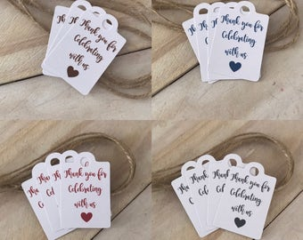 Party Favour Tags - Wedding Favour Tags - Engagement Favour Tags - White Paper Tags - Thank you Tags (20)