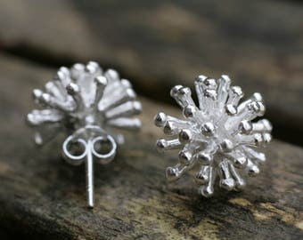 Silver Flower Studs - Silver Stud Earrings - Flower Stud Earrings - Sterling Studs - Silver Flower Earrings - Flower Studs - Flower Jewelry