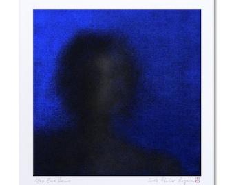 "Mystical Art, Blue Art, Limited Edition Prints ""Ecce Homo"" Art Print Making, Spiritual Art, Religious Art, Giclee Art Print, Digital Art"