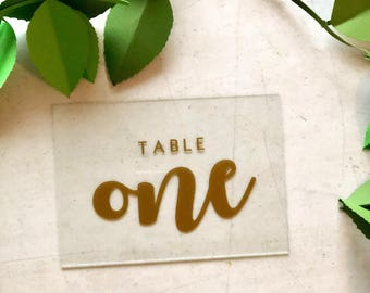 Acrylic Table Numbers - In multiple colors & finishes