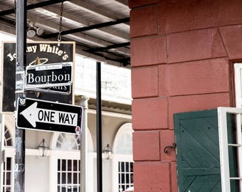 Fine Art Photography Print New Orleans Louisiana Historic District French Quarter Bourbon Street