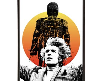 The Wicker Man stylish pop art print with Christopher Lee as Lord Summerisle - part of cult film The Wicker Man pop art collection