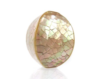 Mother of Pearl Mosaic Bead, 1 pc