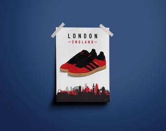 adidas Originals GTX London 2 Illustrated Poster Print | A6 A5 A4 A3
