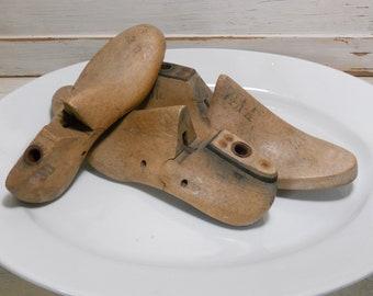 Three Vintage Wood Shoe Forms
