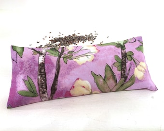Organic Lavender Eye Pillow, Floral, lavender aromatherapy, heat pack, cold pack, restorative gifts, yoga gifts, yoga accessories, spa gifts