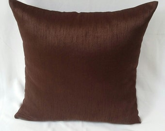 Chocolate brown throw pillow cover. decorative chocolate brown  pillow. On  offer pillow. Brown cushion cover 20 % off for 2pcs.