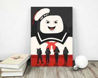 Ghostbusters Stay Puft Marshmellow Man Poster Print 80's Retro Vintage - Various Sizes
