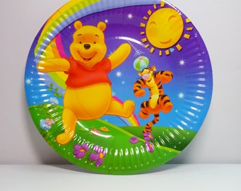 Winnie the Pooh paper plates 10 pcs. Paper plates for children\u0027s holiday. Set for  sc 1 st  Etsy & Pooh party | Etsy