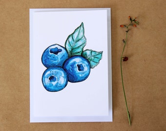 Blueberry gift card- Print