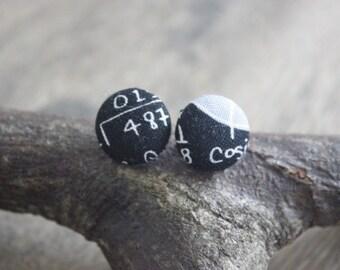 Maths earrings, maths print, math gift, math teacher gift, lecturer gift, science gift, science print, maths jewellery, geek chic, geek gift