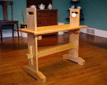 Larger Adjustable Weaver's Loom Bench / Stable or rocking seat