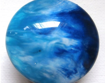 Custom Handmade One of a Kind Epoxied Furniture and Cabinet Knobs-Ocean Waves