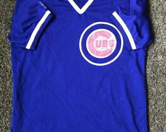 1980s  Majestic Chicago Cubs Mesh Jersey- Size Large
