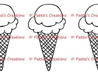 Ice Cream Cone Trio